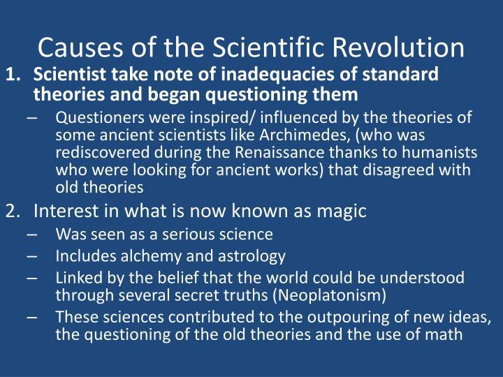 Causes of the Scientific Revolution
