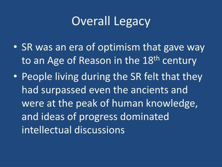 Overall Legacy