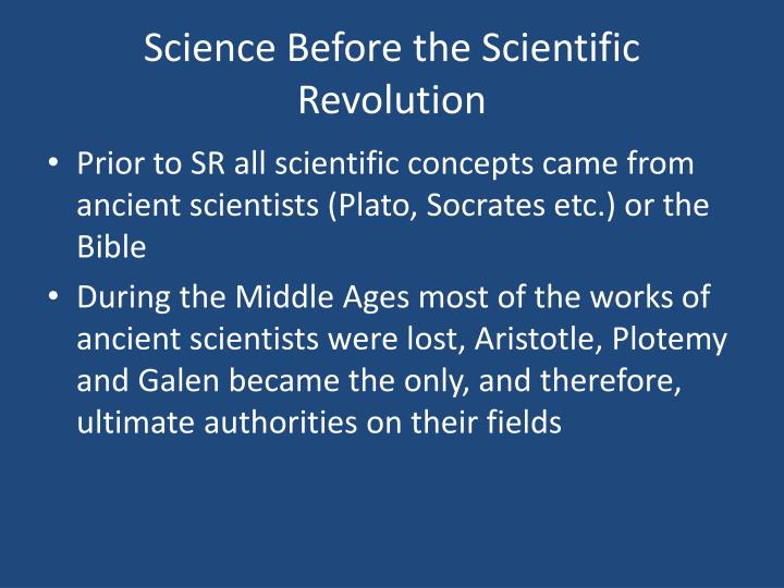 Science before the scientific revolution