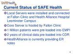 current status of safe health1