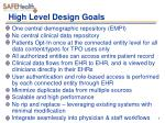 high level design goals