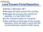local consent portal repository