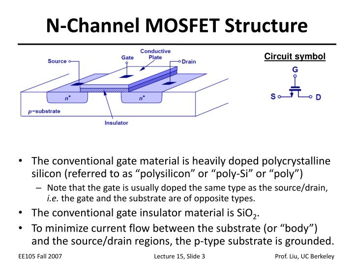 N channel mosfet structure