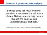 science a product of data analysis
