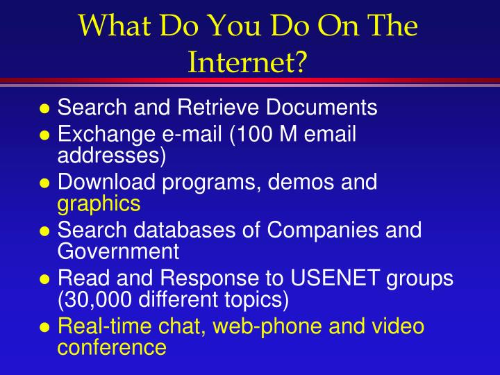 What Do You Do On The Internet?