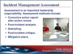incident management assessment