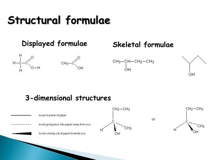 Structural formulae