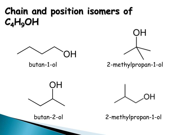 Chain and position isomers of