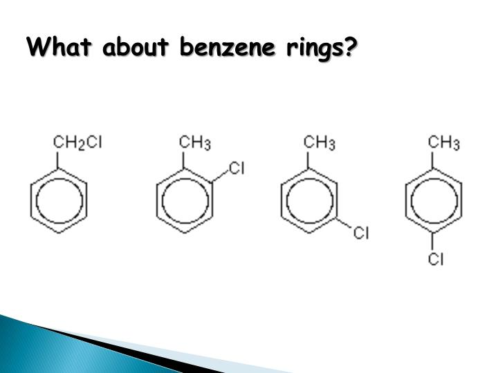 What about benzene rings?