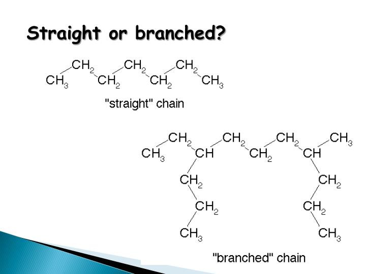 Straight or branched?