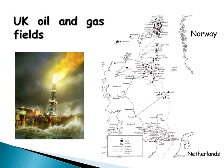 UK oil and gas fields