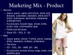 marketing mix product