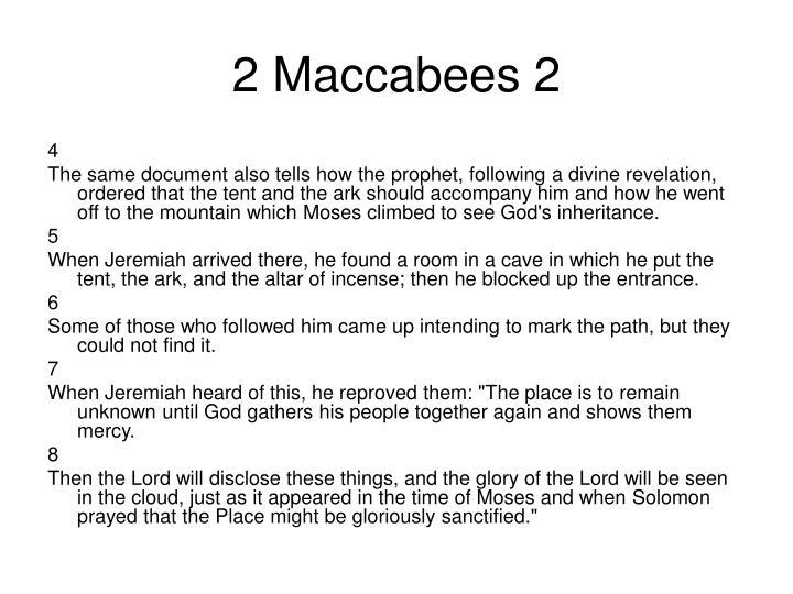 2 Maccabees 2