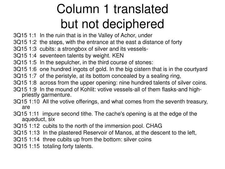 Column 1 translated