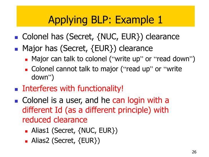 Applying BLP: Example 1