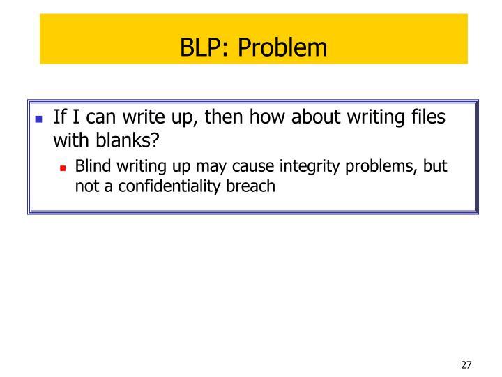 BLP: Problem