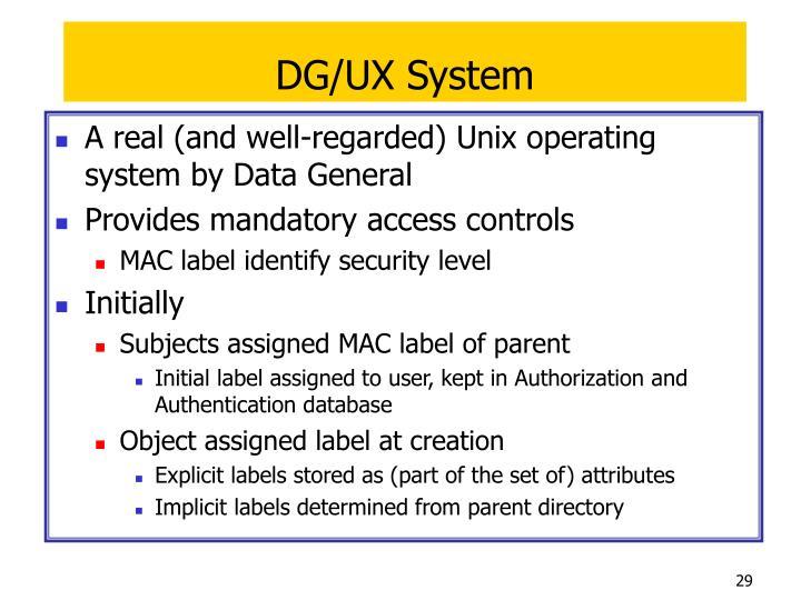 DG/UX System