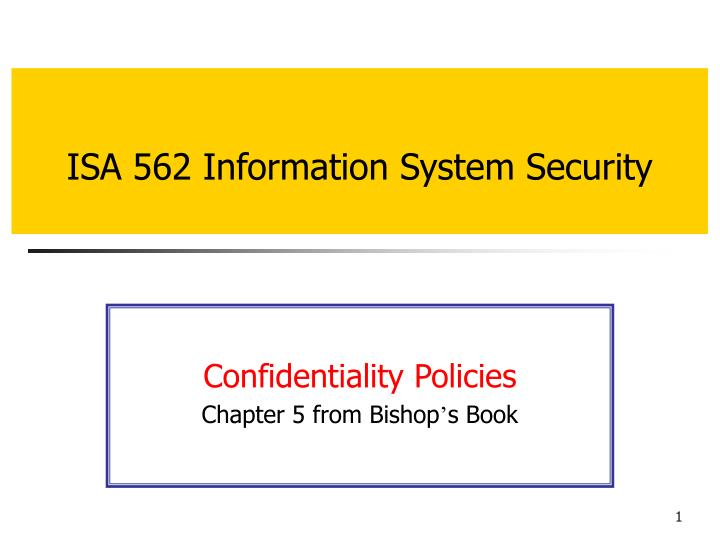 Isa 562 information system security