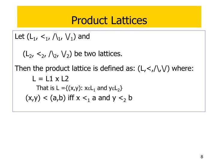 Product Lattices