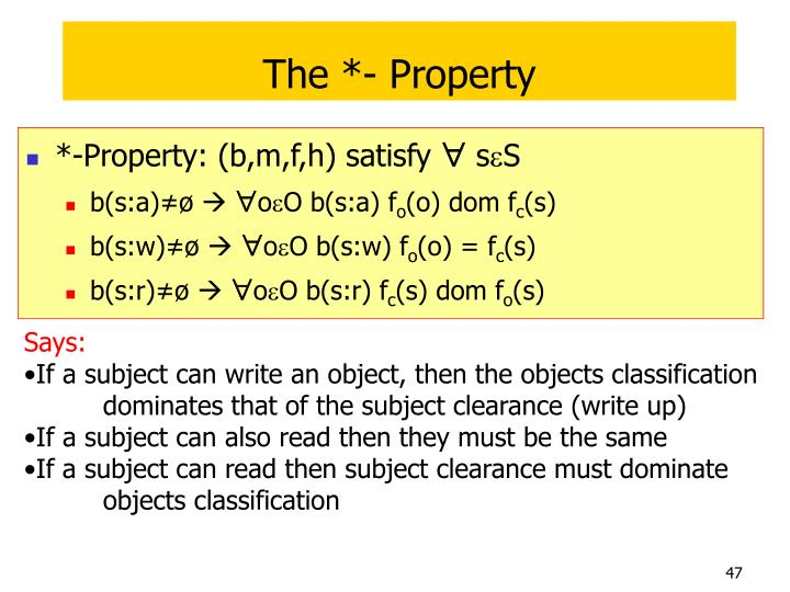 The *- Property