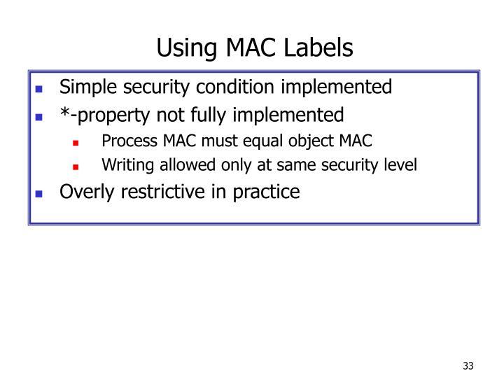 Using MAC Labels