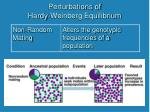 perturbations of hardy weinberg equilibrium1