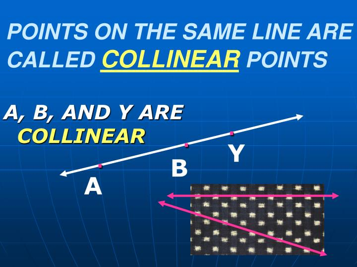 POINTS ON THE SAME LINE ARE CALLED
