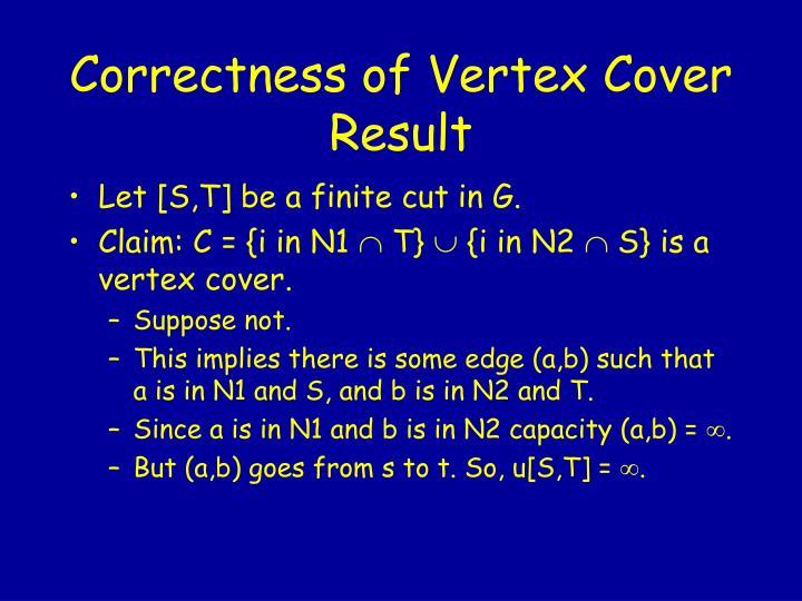 Correctness of Vertex Cover Result