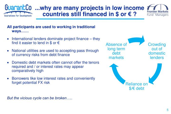 ...why are many projects in low income