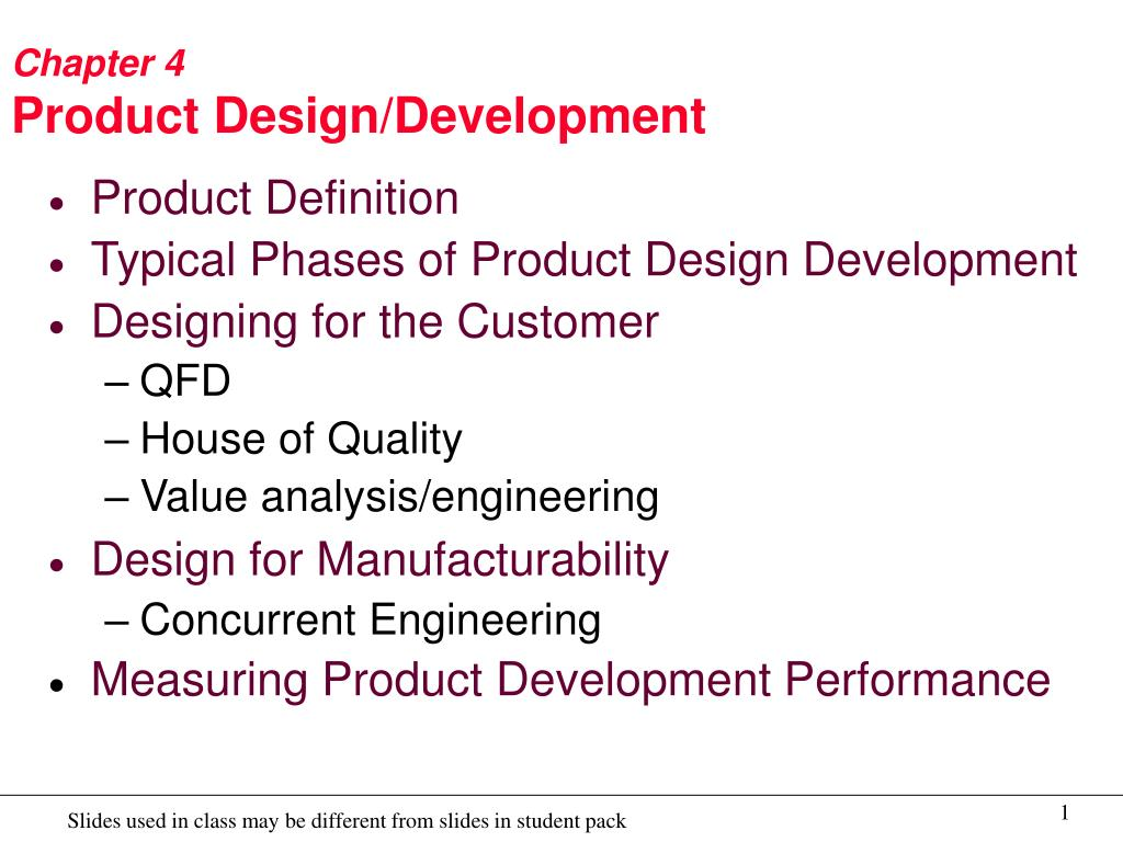 Ppt Chapter 4 Product Design Development Powerpoint Presentation Free Download Id 6606821