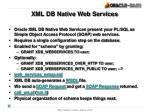 xml db native web services