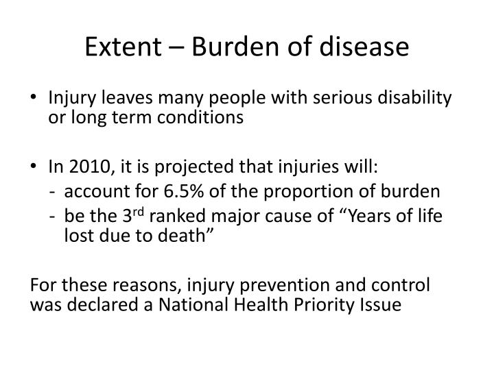 Extent – Burden of disease