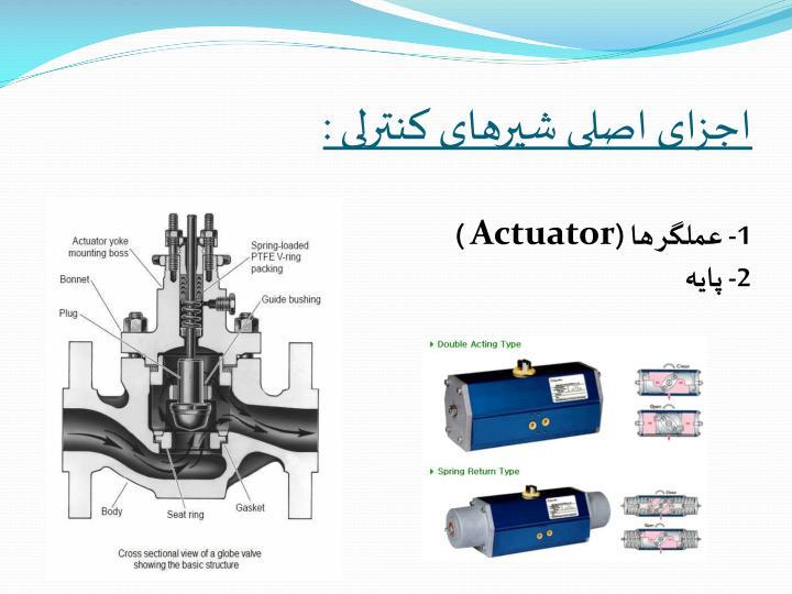 اجزای اصلی شیرهای کنترلی :