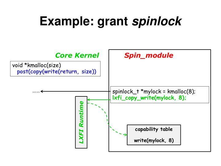 Example: grant