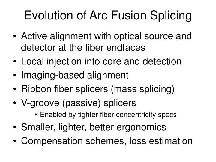 Evolution of Arc Fusion Splicing