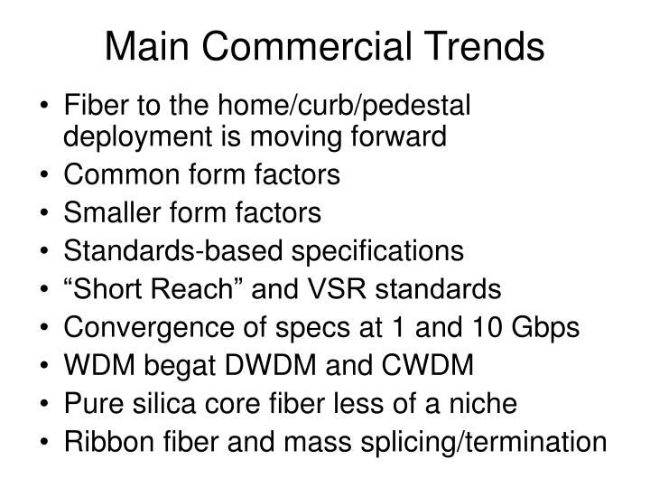 Main Commercial Trends