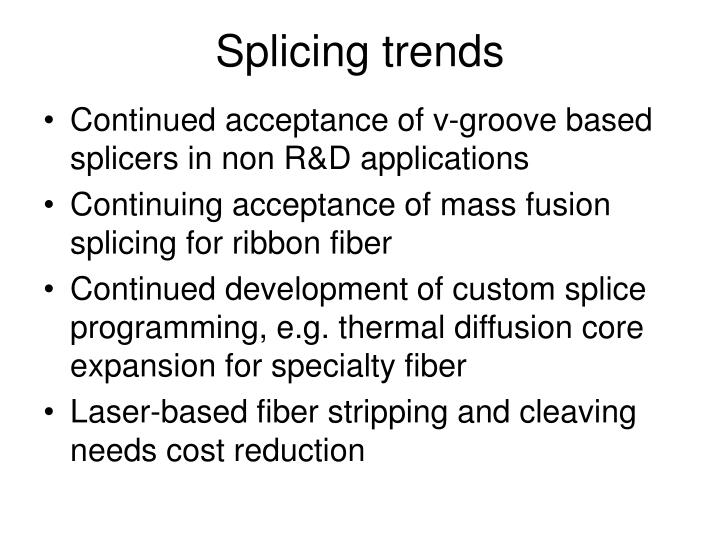 Splicing trends