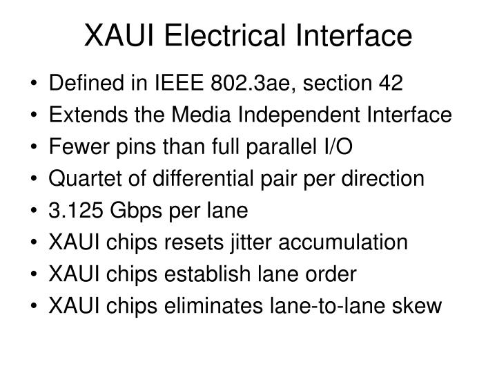 XAUI Electrical Interface
