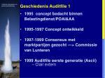 geschiedenis auditfile 1