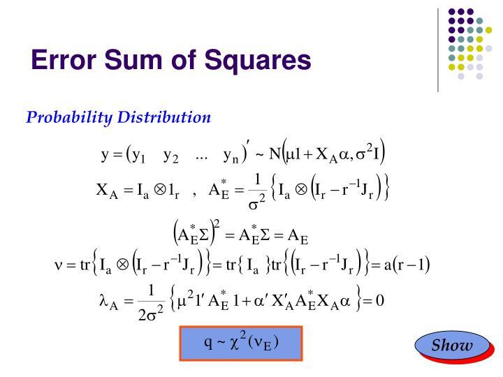 Error Sum of Squares