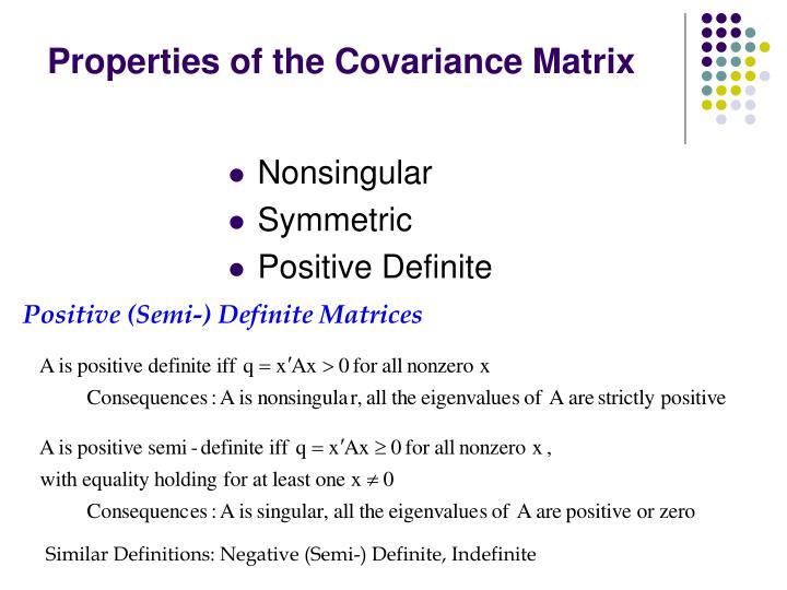 Positive (Semi-) Definite Matrices