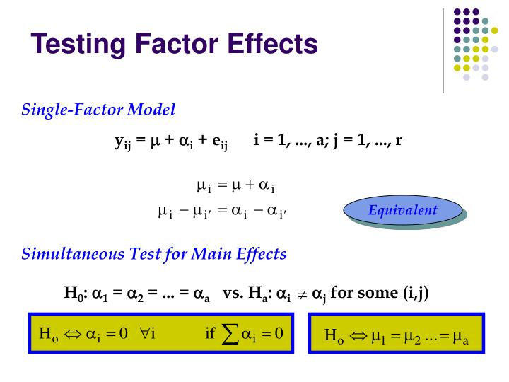 Testing Factor Effects