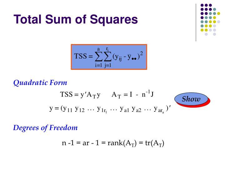 Total Sum of Squares