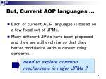 but current aop languages