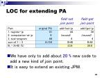 loc for extending pa