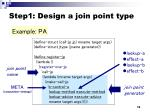 step1 design a join point type