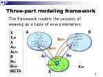 three part modeling framework1