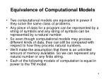 equivalence of computational models