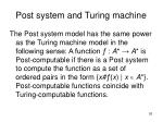 post system and turing machine