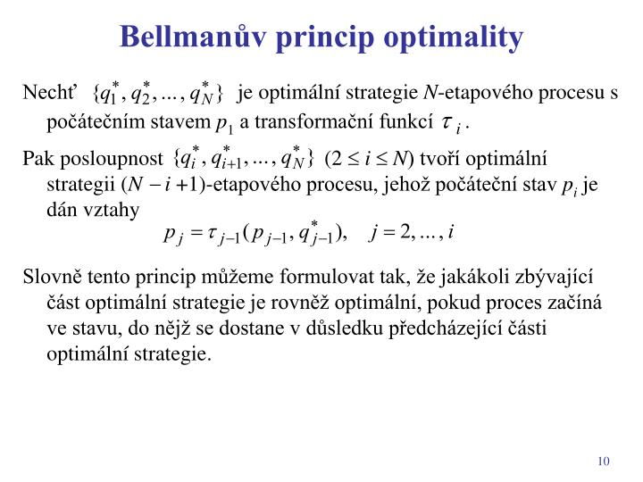 Bellmanův princip optimality